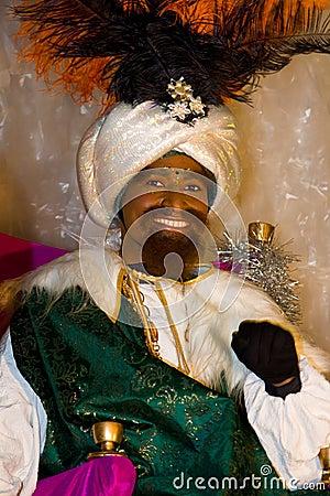 Black Biblical Magi King Editorial Stock Photo