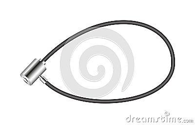 Black bicycle lock