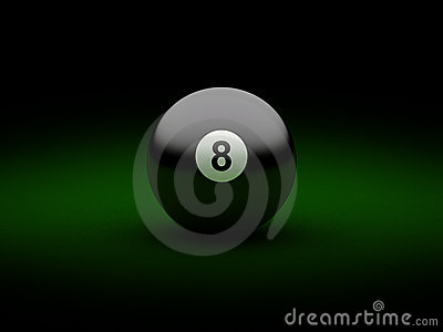 Black billiard ball