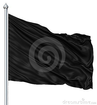 Free Black Blank Flag Royalty Free Stock Photo - 24099645