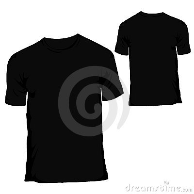 Free Black Blank T-shirt Design Template For Menswear Royalty Free Stock Images - 8988379