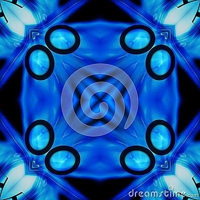 Black And Blue Tile Pattern Background 4