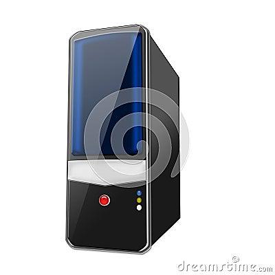 Black Blue Tower PC