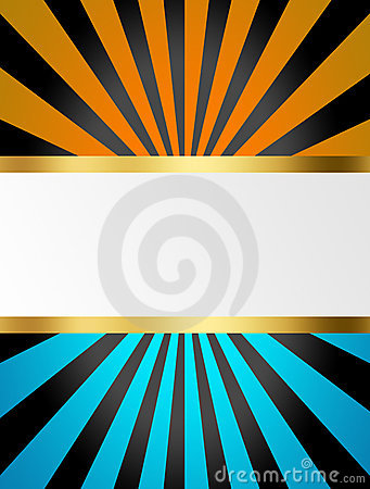 Black, blue and yellow stripes