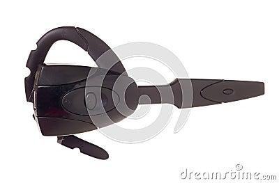 Black bluetooth car headset