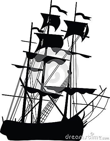 Black boat