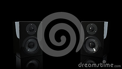 Black  Bookshelf Speakers