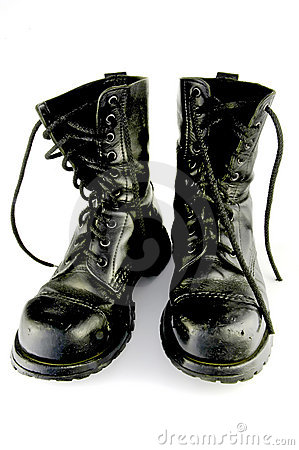 Free Black Boots, Isolated Stock Image - 709131