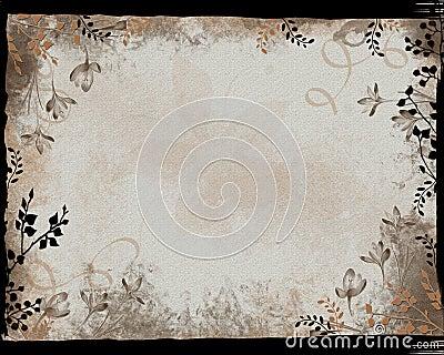 Black Border Floral Frame