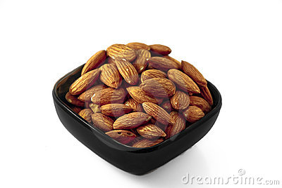 Black Bowl of Almonds