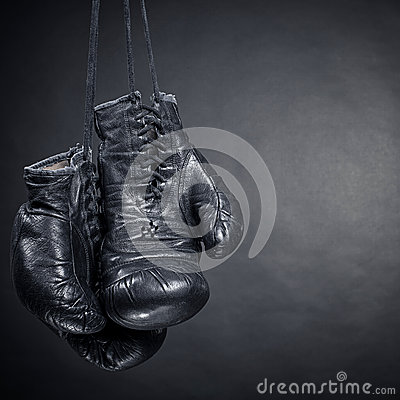 Free Black Boxing Gloves Stock Photo - 38625760