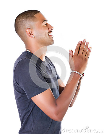 Black boy pray his god