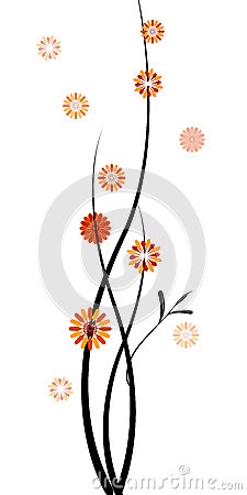 Twigs with Flowers