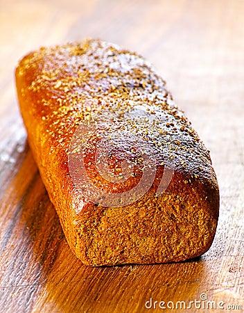 Black bread loaf
