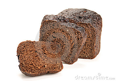 Black bread slice