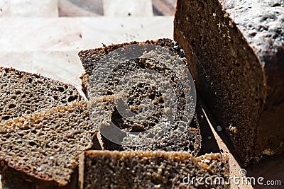 Black bread slice