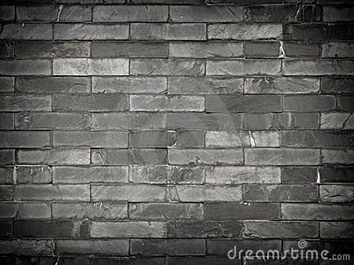 Black brick wall 1.