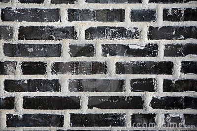 Black brick wall