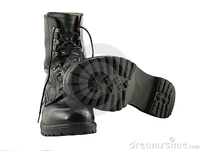 Black British Army Issue Combat Boots