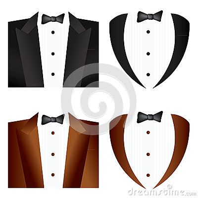 Black  and brown Tie Tuxedo