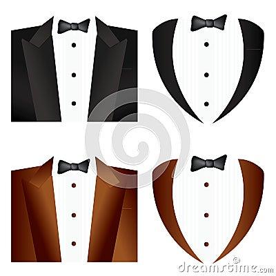Black  and brown Tie Tuxedo