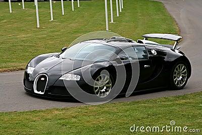 Black bugatti veyron Editorial Stock Photo