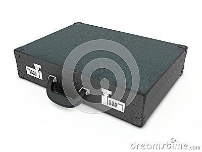 Black business leather portfolio for documents