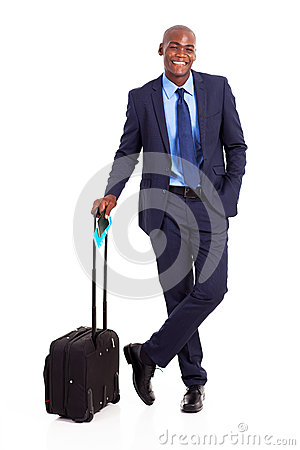 Black business traveller