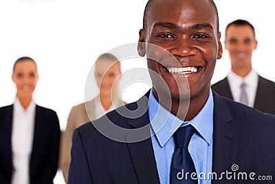 Black businessman colleagues