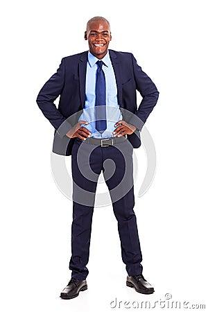 Black businessman suit