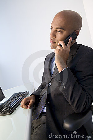 Black businessman at work