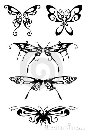 Free Black Butterfly Silhouettes Stock Photos - 2032203