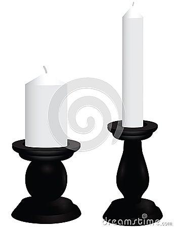Free Black Candlesticks Royalty Free Stock Photography - 31242927