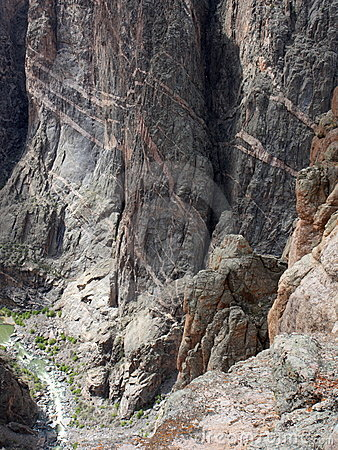 Black Canyon Of The Gunnison Colorado Rugged Cliff Stock Photography - Image: 14111342