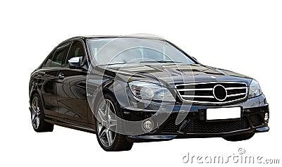 Black car AMG Mercedes