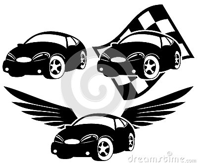 Black car icons.