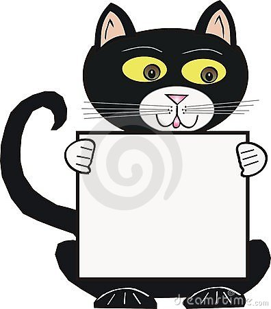 black and white cat cartoon. BLACK CARTOON CAT