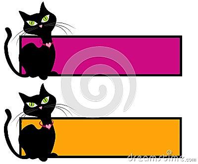 Black Cat Feline Webpage Logos