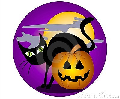 Black Cat Halloween Clip Art 2