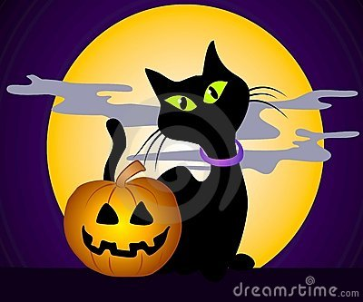 Black Cat Halloween Clip Art 3