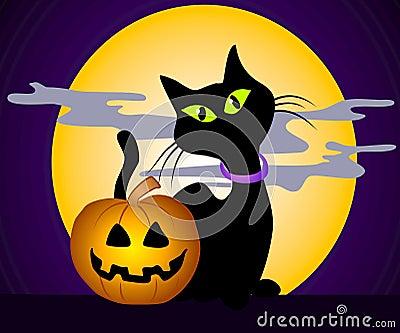 Black Cat Halloween Clip Art 3