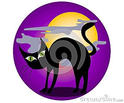 Black Cat Halloween Clip Art