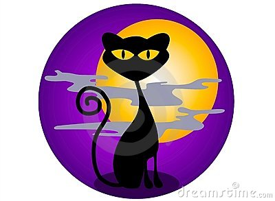 Black Cat Halloween Graphics