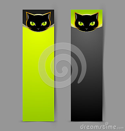 Black cat head banners