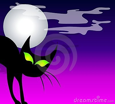 Black Cat Moon Background