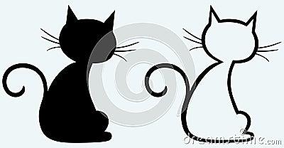 Black cat silhouette Vector Illustration