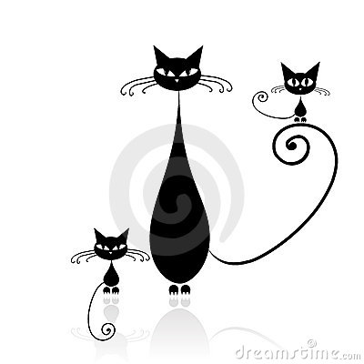 Free Black Cat Silhouette For Your Design Stock Photos - 11690013