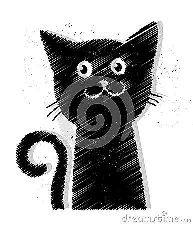 Free Black Cat Vector Stock Photos - 34645973