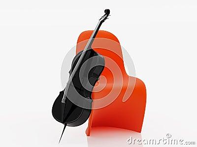 Black cello