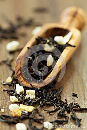 Black ceylon tea with lemon